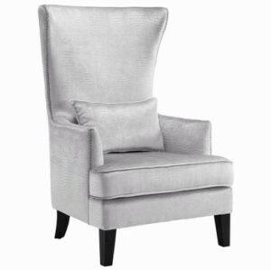 "The ""Bristol"" Chair in Silver Croc Print Velvet"