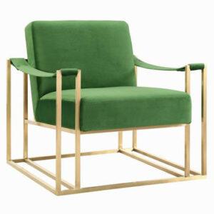 """The """"Baxter"""" Chair in Green Velvet"""