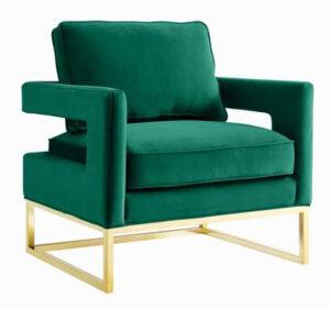 """The """"Avery"""" Chair in Green Velvet"""