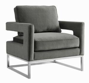 """The """"Avery"""" Chair in Grey Velvet"""