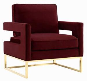 """The """"Avery"""" Chair in Maroon Velvet"""