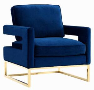 """The """"Avery"""" Chair in Navy Velvet"""