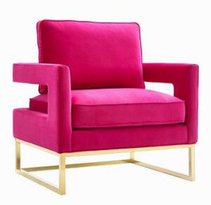 """The """"Avery"""" Chair in Pink Velvet"""