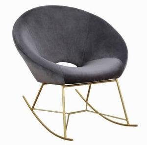"""The """"Nolan"""" Rocking Chair in Grey Velvet"""
