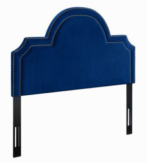 "The ""Laylah"" Headboard in Navy Velvet"