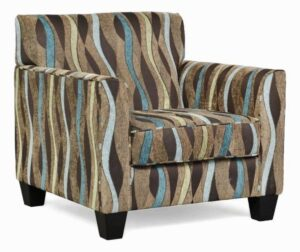 """#900 – """"Sara"""" Accent Chair in Casino Teal"""