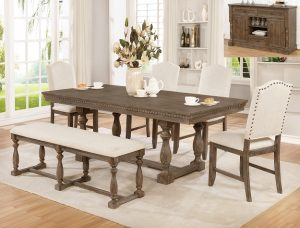 """#2270 – The """"Regent"""" Dining Set with Bench"""