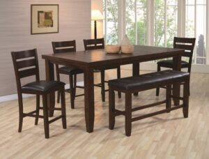 "#2752 – The ""Bardstown"" Counter-Height Dining Set with Bench"