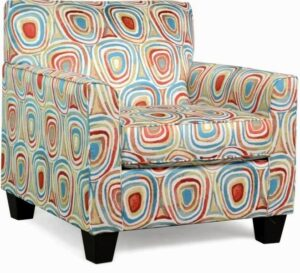"""#900 – """"Sara"""" Accent Chair in Freefall Crayola"""