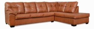 "#485 – The ""Charlotte"" Sectional in Stallion Chestnut"