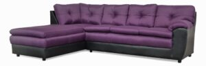 """#162 – The """"Zoey"""" Sectional in Theo Grape/San Marino Black"""