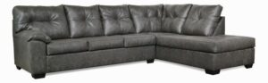 "#485 – The ""Charlotte"" Sectional in Stallion Charcoal"