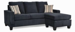 "#2800 – The ""Audrey"" Sectional in Oakley Black/Warwick Charcoal"