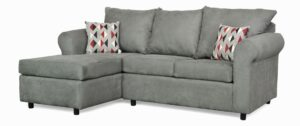 """#151 – The """"Leah"""" Sectional in Bulldozer Graphite/Ventura Cinder"""