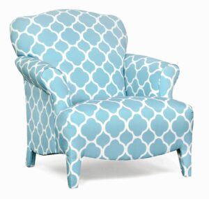 "#100 – ""Olivia"" Accent Chair in Patio Blue"