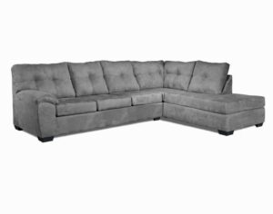 "#485 – The ""Charlotte"" Sectional in Bulldozer Graphite"