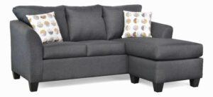 "#5275 – The ""Valerie"" Sectional in Oscar Gunmetal/Mandela Mineral Kaye"
