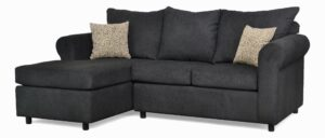 """#151 – The """"Leah"""" Sectional in Due Black/Zoo Taupe"""