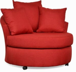 #650 – Barrel Accent Chair in Oscar Red