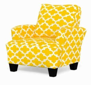 "#545 – ""Madison"" Accent Chair in Fynn Corn Yellow Slub"