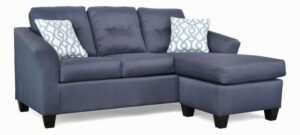 "#5650 – The ""Harmony"" Sectional in Theo Navy/Lyan Cashmere Blue"