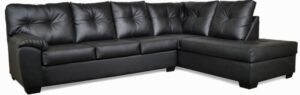 "#485 – The ""Charlotte"" Sectional in Cabo Black"