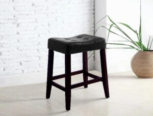 "#2787C24BK – The ""Kent"" Counter Stool in Black – Set of 2"