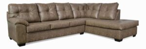 """#485 – The """"Charlotte"""" Sectional in Stallion Tawny"""