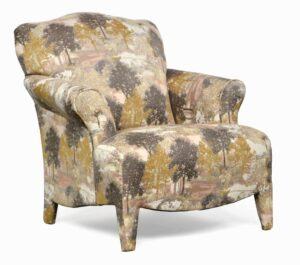 "#100 – ""Olivia"" Accent Chair in Sycamore Rose"