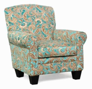 "#500 – ""Quinn"" Accent Chair in Boulange Turquoise"