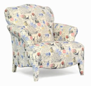 "#100 – ""Olivia"" Accent Chair in Amore Primary Natural"