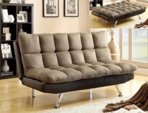 "#5250ESP-PEB – The ""Sundown"" Adjustable Sofa in Espresso/Pebble"