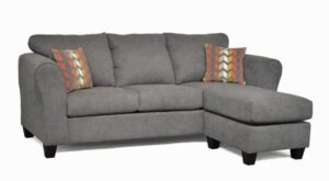 "#1000 – The ""Skylar"" Sectional in Capstone Steel/Zeppelin Sorbet"