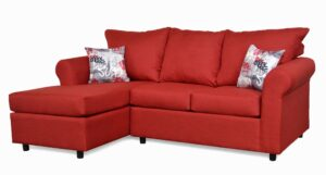 """#151 – The """"Leah"""" Sectional in Oscar Red/Graffiti Red"""