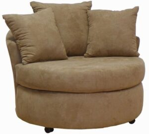 #650 – Barrel Accent Chair in Bulldozer Mocha