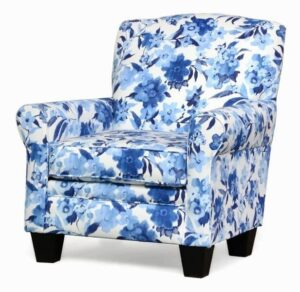 "#500 – ""Quinn"" Accent Chair in Muira Indigo"