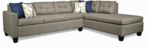 """#118 – The """"Luna"""" Sectional in Jitterbug Taupe/Oscar Navy/Exposure Oceanside"""
