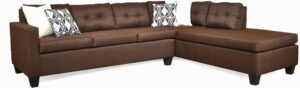 """#118 – The """"Luna"""" Sectional in Jitterbug Cocoa/Flanders Linen/Hyperian Cadet"""