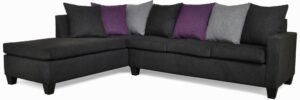 """#119 – The """"Avery"""" Sectional in Due Black/Due Grey/Due Eggplant"""