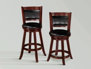 "#2798/#2998 – The ""Cecil"" Swivel Stool in Espresso – Set of 2"