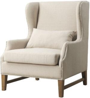 """The """"Devon"""" Chair in Beige Linen"""