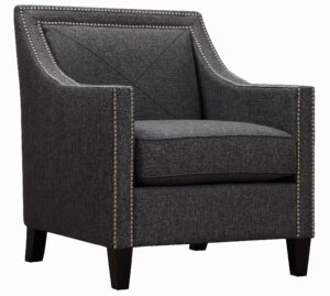 "The ""Asheville"" Chair in Dark Grey Linen"
