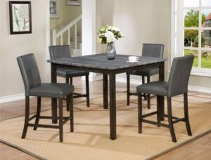 "#2877GY – The ""Pompei"" Counter-Height Dining Set"