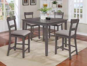 "#2754GY – The ""Henderson"" Counter-Height Dining Set in Grey"
