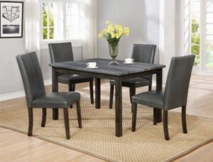 "#2377GY – The ""Pompei"" Dining Set in Grey"