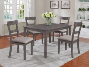 "#2254GY – The ""Henderson"" Dining Set in Grey"