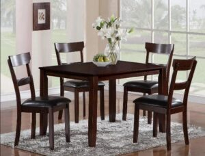 "#2254 – The ""Henderson"" Dining Set in Espresso"