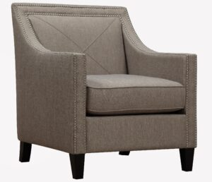"The ""Asheville"" Chair in Light Grey Linen"