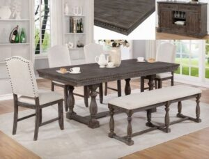 "#2270 – The ""Regent"" Dining Set with Bench"