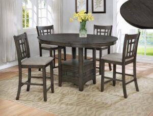 "#2795GY – The ""Hartwell"" Counter-Height Dining Set in Grey"